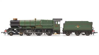 Second release of Hornbys' superb new model of the GWR King class express passenger locomotives.Locomotive 6002, King William IV, was built in July 1927 at Swindon Works and was allocated initially to Plymouth Laira Shed. The Alfloc water treatment was fitted in 1954, with the double chimney being fitted in March 1956. King William IV spent spells at sheds across the Great Western region, from Plymouth Laira, Newton Abbot and Old Oak Common, to Wolverhampton Stafford Road, from where it was withdrawn in September 1962. Sold for scrap to Cox and Danks of Oldbury, King William IV was cut up in February 1963.