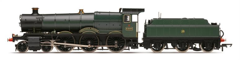 Hornby 00 R3552 GWR 6860 Aberporth Grange Collett Grange Class 4-6-0 GWR Unlined Green with Button MonogramDCC socket fitted inside boiler.