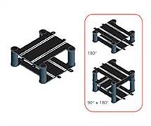 Scalextric 1/32 Sport Track Elevated Crossover Track C8295Elevated crossover (90 or 180 degrees) 233mm x 1 includes supports