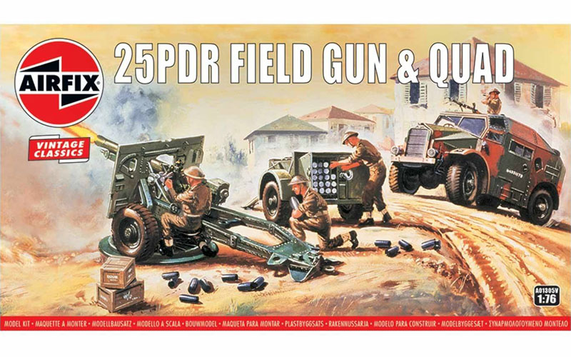 Airfix British 25 Pdr Field Gun World War 2 Plastic Kit 1/76