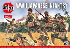 Modelled on the Japanese Army in the Pacific this set includes infantry men armed with rifles, machine guns and grenadesBox contains 48 parts