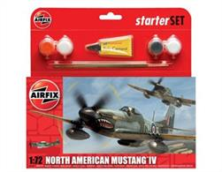 Paint  Scheme - North American Mustang IV, No.112 Sqadron, Italy, 1945Airfix Starter Sets are ideal for beginners.  Each Small Starter Set includes glue, brush and four acrylic paints - all that is needed to complete a fabulous first kit!