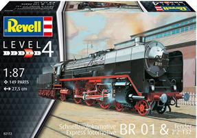 Revell 02172 1/87th Express Loco BR01 with Tender 2'2'T32 Kit