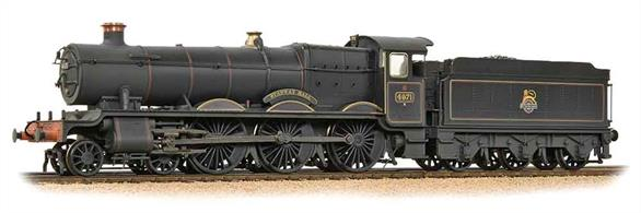 Bachmannn Branchline OO Gauge 32-002A BR 4971 Stanway Hall ex-GWR Collett Hall Class 4-6-0 BR Lined Black Early Emblem WeatheredHighly detailed model of the early Collett 49xx Hall class locomotive. Featuring a wealth of finely moulded detail and many separately fitted parts including the ejector pipe and sand box operating rods. The BR black livery has a semi-matt finish with nicely printed cab side and tender lining and early style BR crest.