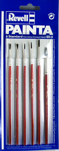 Painta Set of 6 Standard Paint Brushes