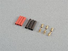 These 3.5mm gold connectors have 'shovel type' soldering points for easy and reliable soldering and come complete with coloured heat shrink