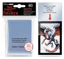 Small Sleeve Covers are designed as the outer layer for your card and protects your limited edition printed sleeves. Best used in conjunction with small sized Ultra PRO Deck Protectors. Made from ultra clear, archival-safe and acid-free material. 60 sleeve covers per pack.