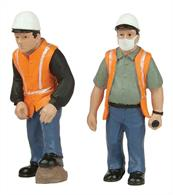 Bachmann 47-403 0 Gauge Lineside or Road WorkersPack of 2 track or road workers in hi-visibility clothing.