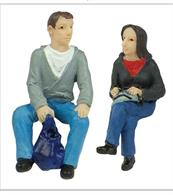 Bachmann 47-404 O Gauge Sitting Passengers Pack APack of 2 seated passenger figures