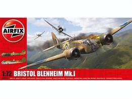 Airfix A04016 1/72nd RAF Bristol Blenheim MK1 Bomber KitNumber of Parts 142    Length 168    Width 237mm
