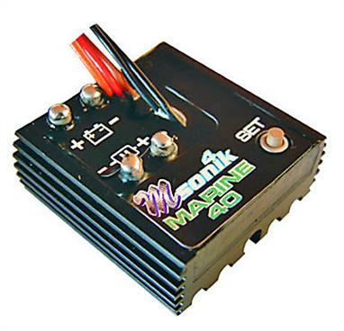 High power marine ESC ideal for small scale models and speed boats. Instant reverse action!