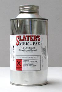 Slaters Plastikard Mekpak 1/2 Litre Tin Polystyrene Cement 0503