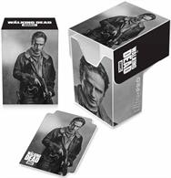 Top loading Deck Box with full flap cover. Holds 82 cards in Ultra PRO Deck Protector sleeves. Acid free, durable polypropylene material and includes one matching divider. Features Rick from AMC's The Walking Dead.