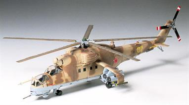 Tamiya 1/72 Mil Mi-24 Hind Helicopter kit 60705Glue and paints are required to assemble and complete the model (not included)Click on the More link to view related products.