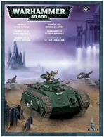 This box set contains one multi-part plastic Imperial Guard Chimera. This 95-piece set comes with a range of assembly options allowing you to customise your miniature, including: a turret-mounted multi-laser, a turret-mounted heavy flamer, a turret-mounted heavy bolter, a hull-mounted heavy flamer, a hull-mounted heavy bolter, a hunter-killer missile and two different tank commanders.