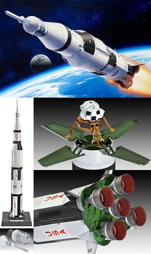 Revell 1/144 Apollo Saturn V Rocket Kit 04909Length 775mmNumber of Parts 82Glue and paints are required to assemble and complete the model (not included) Click on the More link to view related products.