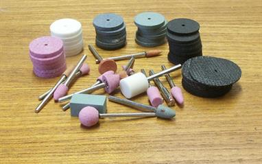 A large selection of cutting and grinding tools for mini-drills.