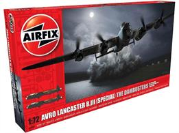 Airfix A09007 1/72nd Dambuster Lancaster WW2 Bomber Aircraft Kit Number of Parts 239  Length 294mm  Wingspan 432mm