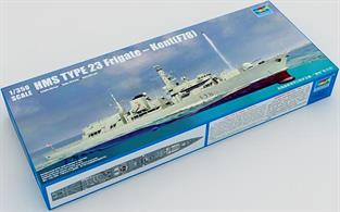 Trumpeter 1/350 Royal Navy RN Type 23 Frigate HMS Kent F78 Kit 04544Glue and paints are required