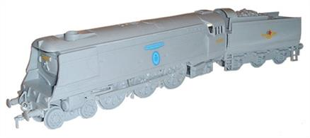 This Dapol plastic kit builds into a good model of the Bulleid streamlined Battle of Britain class 4-6-2 Pacific, 257 Squadron.Moulded in grey plasticGlue and paints are required to assemble and complete the model (not included)