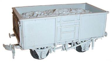 Dapol C37 00 Gauge 16Ton Steel Mineral Wagon KitGlue and paints are required to assemble and complete the model (not included).