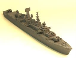 MT Minatures MTM038 a resin, white metal kit with photo etched parts and decals of a Batch 2 Royal Navy RN County Class Destroyer HMS Glamorgan.