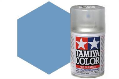 Tamiya TS58 Synthetic Lacquer Spray Paint Pearl LIght Blue 100ml TS-58These cans of spray paint are extremely useful for painting large surfaces, the paint is a synthetic lacquer that cures in a short period of time. Each can contains 100ml of paint, which is enough to fully cover 2 or 3, 1/24 scale sized car bodies.