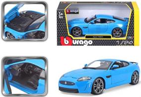 Burago B18-21063B 1/24th Jaguar XKR-S Metallic Blue Diecast Model