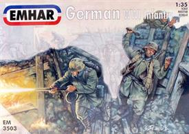 Emhar 1/35 German Infantry WWI EM350312 figures.Glue and paints are required