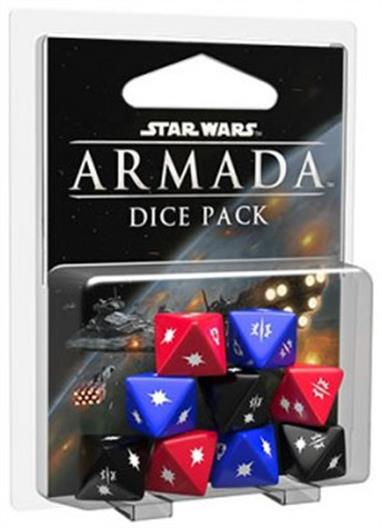 Fantasy Flight Games Dice Pack for Star Wars Armada SWM09Don't wait until it's too late to intensify your firepower. The enemy fleet is approaching firing range, and squadrons of starfighters are racing into position. As you prepare for the upcoming conflicts of Star Wars: Armada, you'll want to make sure your strategy is sound, your ships are in good repair, and you have all the ammunition you need. With the nine custom dice in the Star Wars: Armada Dice Pack, you can better concentrate your fire, raining destruction upon your foes!This is not a complete game experience. A copy of the Star Wars: Armada Core Set is required to play.