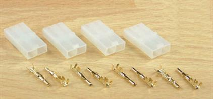 Pack of 4 x Tamiya style (7.2v) sBattery Plug with Gold Pins