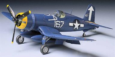 Tamiya 1/48 Vought F4U-1D Corsair US Navy Fighter Kit 61061Ready to assemble precision model kit. Highly detailed exterior. Detailed Engine. Extra fuel tank included. Attaching canopy, wings, landing gear, and flaps. Pilot standing on wing included. Folding wings. One decal sheet for three planes;1): 167, 3/12/44, Hand Grip, Enclosure Release, Navy 57803, F4U-1D, Arrow Insignia, Star Insignia.2): INSP, F4U-1D, Fire Extinguisher Inside, Arrow Insignia, Star Insignia.3): INSP, F4U-1D, Fire Extinguisher Inside, 107, 3/12/44, Star Insignia.Glue and paints are required