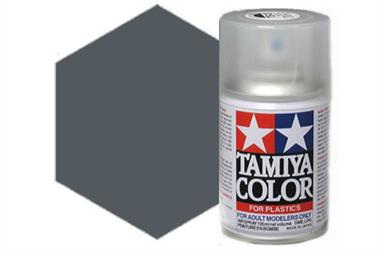 Tamiya TS66 IJN Grey(Kure) Synthetic Lacquer Spray Paint 100ml TS-66These cans of spray paint are extremely useful for painting large surfaces, the paint is a synthetic lacquer that cures in a short period of time. Each can contains 100ml of paint, which is enough to fully cover 2 or 3, 1/24 scale sized car bodies.