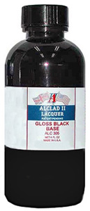 Alclad Gloss Black Base 4fl.oz ALC305<br />A prepared base for use under the chrome lacquer.