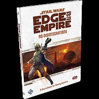 No Disintegrations, a sourcebook for the Star Wars®: Edge of the Empire™ roleplaying game gives you the tools and talents necessary to succeed as a Bounty Hunter, as well as the adventure material that Game Masters need to make that hunt thrilling, suspenseful, and a good challenge. Within its ninety-six full color pages you'll find new species, three Bounty Hunter specializations and two Signature Abilities, plenty of iconic vehicles, sophisticated gear, and much more.