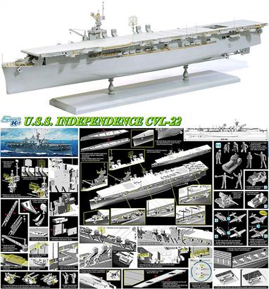 Dragon (Plastics) 1/350 USS Independence CVL-22 Smart Kit 1024Glue and paints are required to assemble and complete the model (not included)