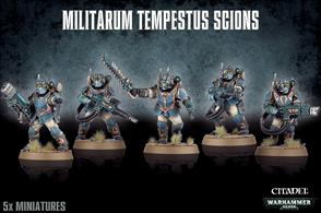 This box contains everything you need to make a 5 man Militarum Tempestus Scions squad armed with hot-shot lasguns.This kit can also be assembled as a Tempestus Scions Command Squad.It is supplied unpainted and requires assembly.