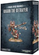 This multi-part plastic kit contains the components necessary to assemble Khârn the Betrayer, a single-pose model armed with a plasma pistol and his chainaxe, Gorechild. Supplied with a Citadel 40mm Round base.