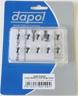 Dapol N Magnetic Coupling Multipack 5 pairs NEM Fitting 2A-000-008Pack of five pairs of Dapols' new magnetic operation N gauge couplers designed to fit the N gauge NEM coupler mounting, as fitted to most of Dapols' recent N gauge models..Multi-packs are ideal for getting started with new couplersThese 'standard' length couplers are used on most rolling stock with the pockets recessed from the ends, as has been done on many recent models to reduce the coupling gap when using the Rapido type couplings.