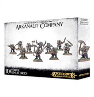 This multi-part plastic kit contains the components necessary to assemble a 10-model Arkanaut Company. This kit comprises 83 components, and is supplied with 10 Citadel 25mm Round bases.