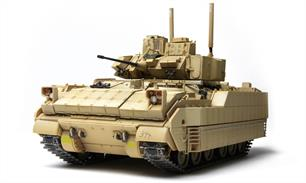 Meng SS-004 1/35 Scale U.S. Infantry Fighting Vehicle M2A3 Bradley W/BUSK IIIDimensions - Length 203.5mm Width 107.3mm Height 97.1mmGlue and paints are required