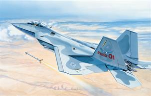 Italeri 1/48 USAF F22 Raptor Jet Fighter Model Kit 850Model length 407mmGlue and paints are required