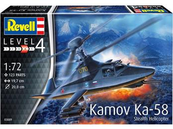 Revell 103889 /72 Russian Kamov Ka-58 Stealth Helicopter Kit