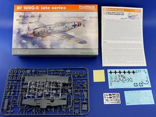 Eduard 1/48 BF-109G6 Late German WW2 Fighter Plastic Kit Profipak 82111The all new tooling of the 109G6 from Eduard in 1/48 scale kit number 82111 in the Profipack boxing with masks,etch and a 5 option decal sheet.Glue and paints are required