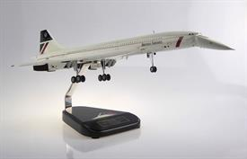 This is a model of Concorde G-BOAA Drop Nose in Landor Livery