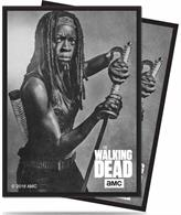 "Survive by any means possible... and bring Michonne to your next game night with these officially licensed The Walking Dead Deck Protector sleeves! Ultra PRO's Deck Protector sleeves are designed to protect you trading card game cards from damage during game play. They are sized to fit standard (Magic) size gaming cards and made with archival-safe polypropylene film and multi-layer ChromaFusion technology. Each pack contains 50 sleeves with high resolution and detailed printing.Officially licensed The Walking Dead Deck Protector sleevesFeatures Michonne from the wildly popular TV seriesSized to fit standard (Magic) 2.5"" x 3.5"" gaming cardsMade with archival-safe, polypropylene filmEach pack contains 50 sleeves"