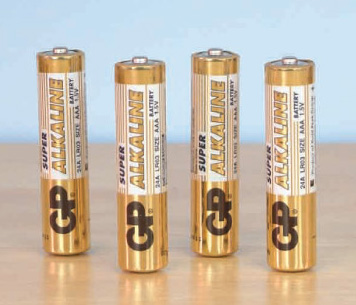 AAA Batteries GP Ultra Card of 4