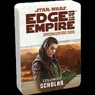 The Scholar Specialization Deck keeps the text of your character's talents close at hand, allowing you to use them swiftly, rather than pause at critical junctures to look them up.Each Specialization Deck contains:2 cover cards (including a reference guide for each deck)20 standard sized talent cards