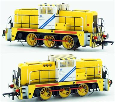A finely detailed model of the Yorkshire Engine Co Janus design industrial diesel shunting engines purchased by British Steel. The bright yellow livery provided improved visual warning of moving trains within the works. Produced with permission of Tata Steel.Limited Edition of 500 DCC Ready Designed for DCC Sound