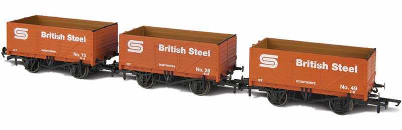 BSC 7 Plank Open Mineral Wagons Pack of 3